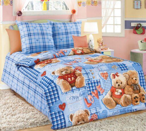постельное белье в кроватку Плюшевые мишки гол.